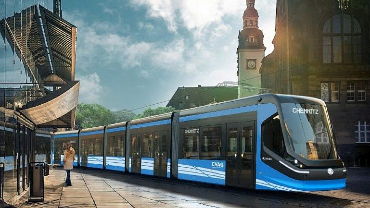 Plzeňská škodovka ukázala nový typ tramvaje, který bude jezdit v německém Chemnitzu