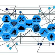 Technologie, automatizace, robotizace, Průmysl 4.0, ilustrace