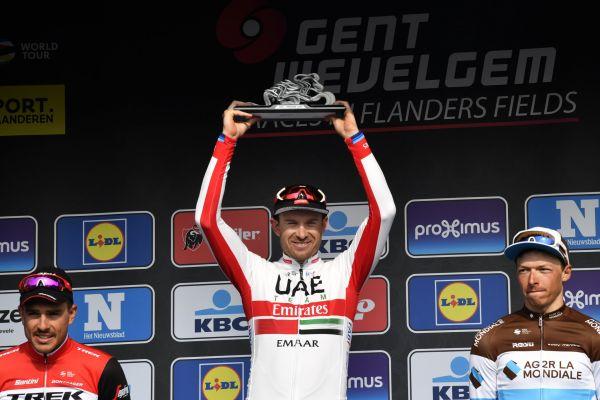 Jednorázový cyklistický závod Gent-Wevelgem zařazený do elitního seriálu WorldTour vyhrál v hromadném spurtu čelní skupiny Nor Alexander Kristoff.