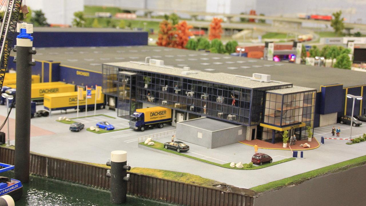 Logistické centrum Dachseru v muzeu miniatur