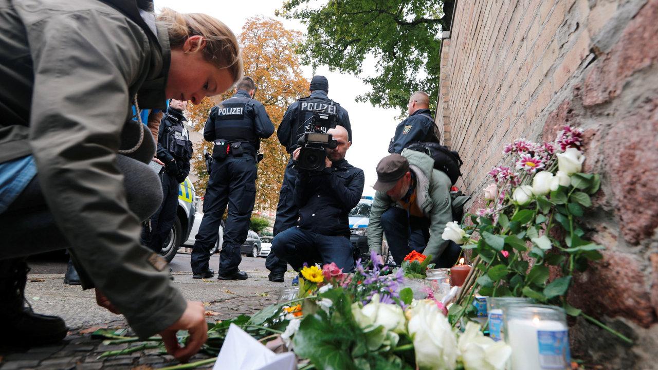 Německo Halle střelba v synagoze