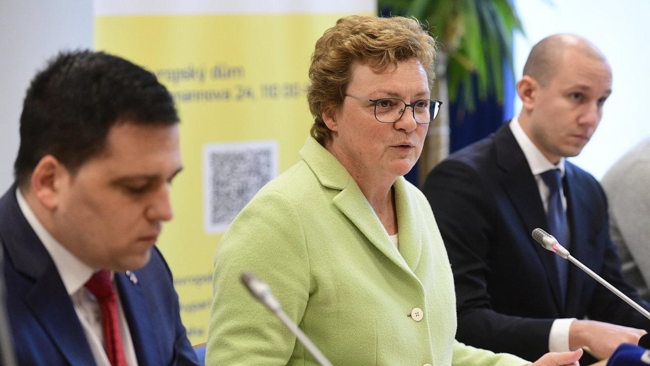Předsedkyně Výboru pro rozpočtovou kontrolu Monika Hohlmeierová.