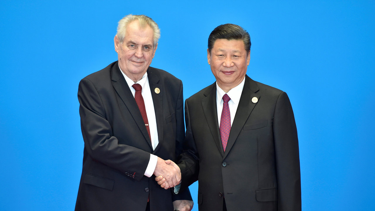 Prezident Miloš Zeman a čínský prezident Si Ťin-pching