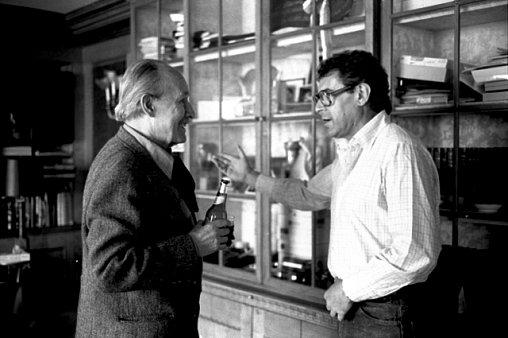 Jiří Voskovec a Miloš Forman v bytě na Manhattanu