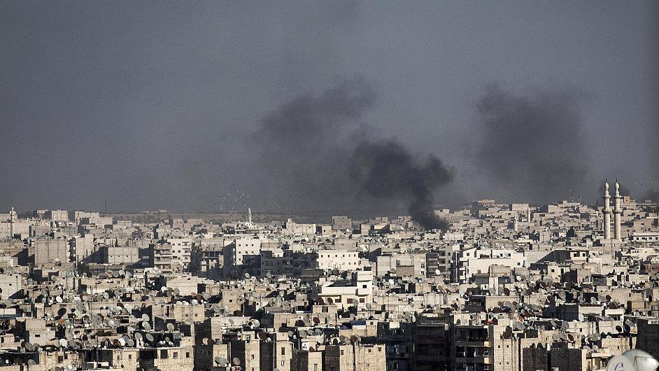 Ostřelované syrské město Halab