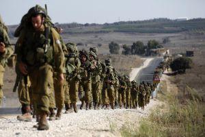 Cvičení izraelské armády na Golanských výšinách