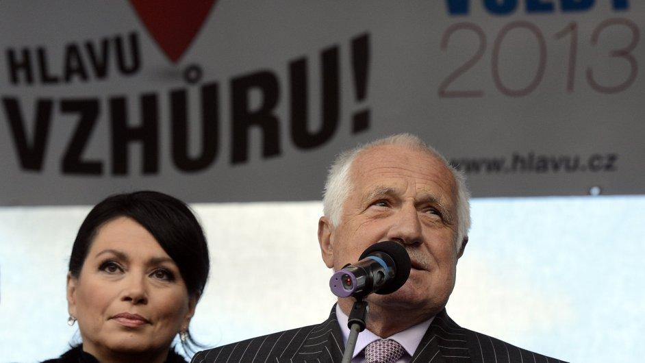 Jana Bobošíková a Václav Klaus