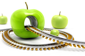 Ilustrace: Apple - bezpečnostní díra.