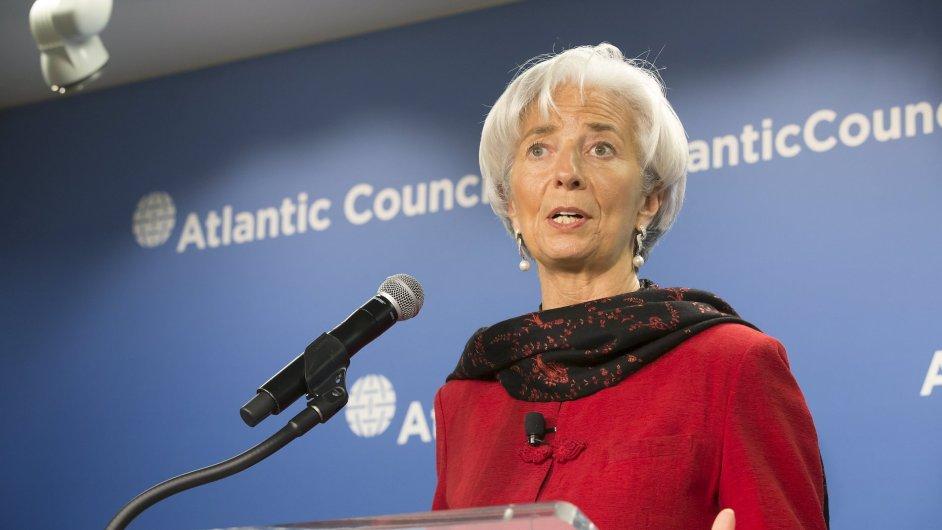 Ředitelka Mezinárodního měnového fondu Christine Lagardeová varovala před slabým růstem.