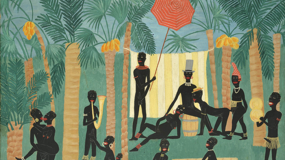 Obraz Ráj černochů od Toyen inspirovala muzikálová show Revue Negre stanečnící Josephine Bakerovou, kterou malířka roku 1925 viděla během své první návštěvy Paříže.