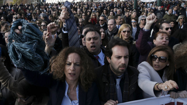 Demonstrace řeckých novinářů je prvním krokem před čtvrteční už třetí generální stávkou - Ilustrační foto.
