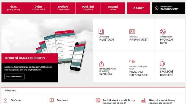 Nov� web Komer�n� banky
