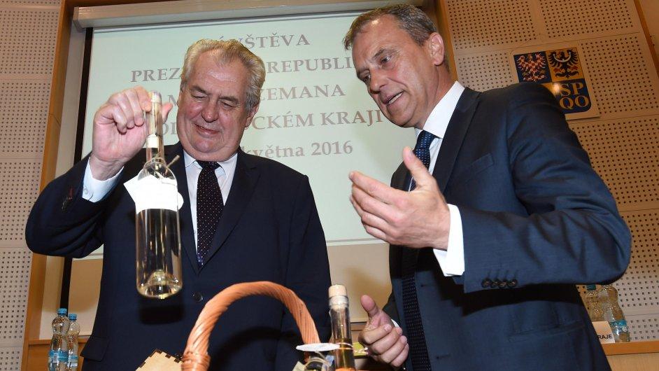 Miloš Zeman na návštěvě Olomouckého kraje.