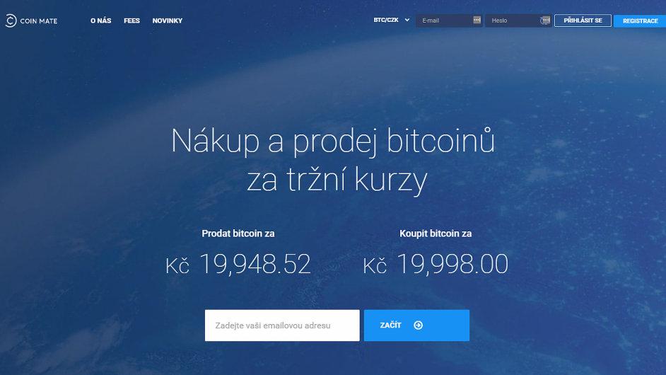 Bitcoinová burza CoinMate.io pracuje v cloudu. Využívá platformu z Česka