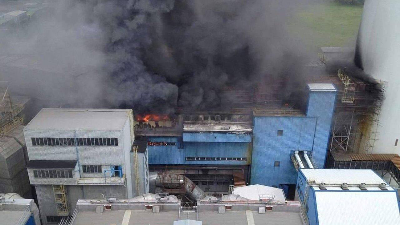 V elektrárně Dětmarovice u Karviné hoří.