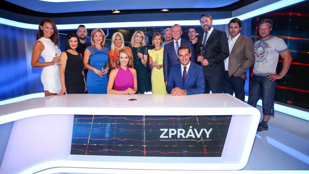 Moderátoři FTV Prima v novém studiu