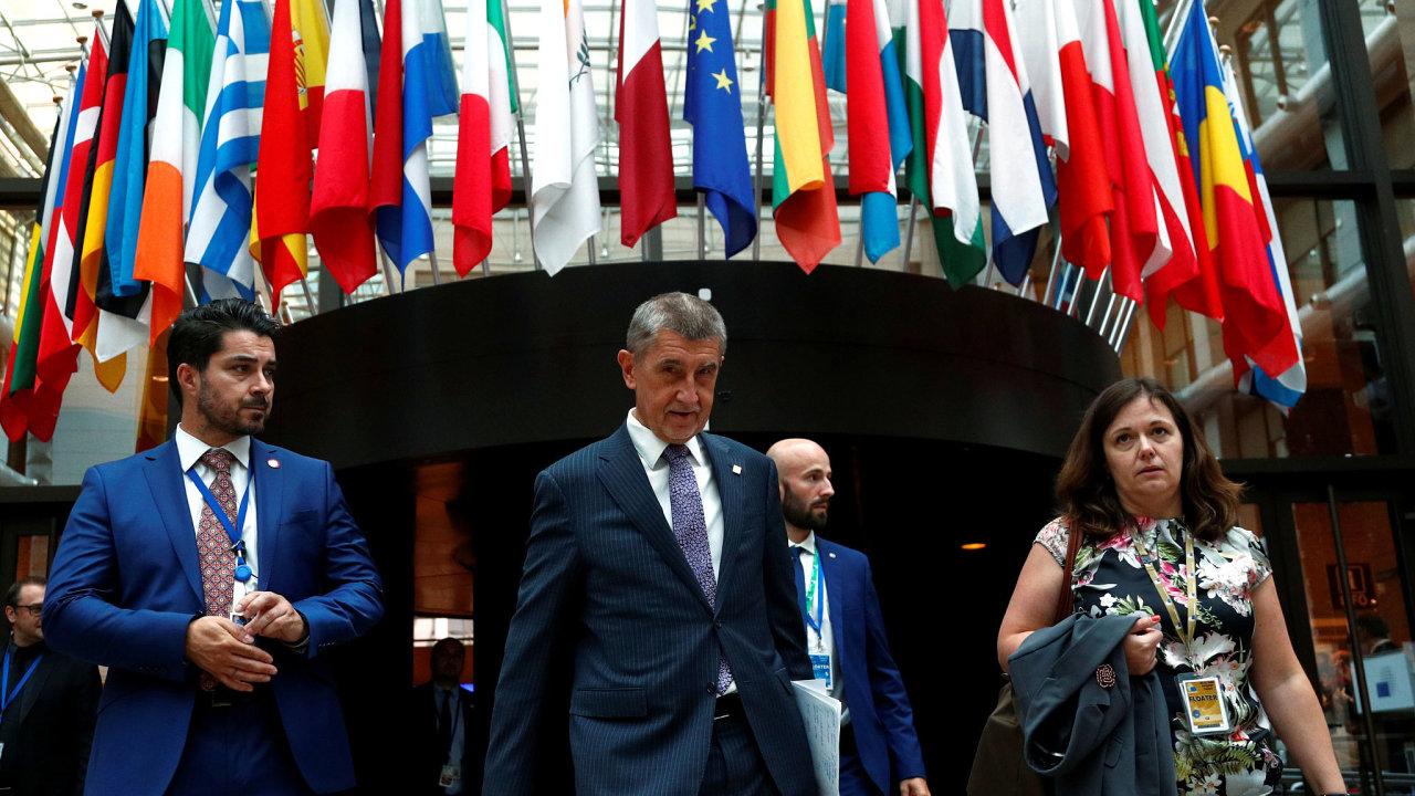 premiér Andrej Babiš na summitu EU v Bruselu