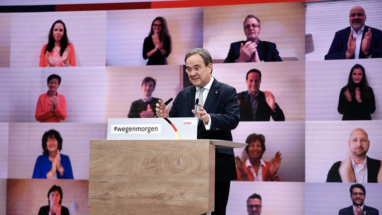 Volba nadálku.Novým předsedou německé vládní CDU se stal Armin Laschet. Volební sjezd probíhal kvůli covidu on-line.