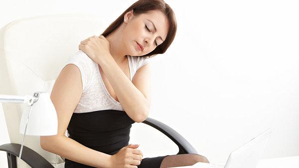 Bolest krku a zad v práci - ilustrace