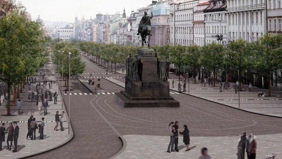 Vizualizace úprav Václavského náměstí
