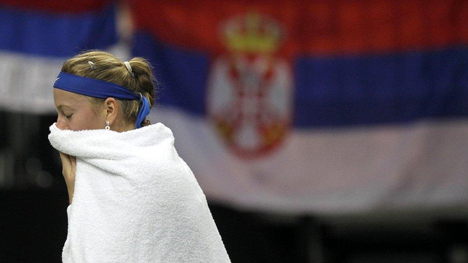 Zklamaná Petra Kvitová
