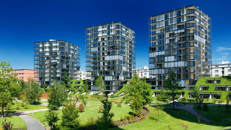 Central Park Praha se se svými 102 prodanými byty řadí mezi 16 nejúspěšnějších developerů.