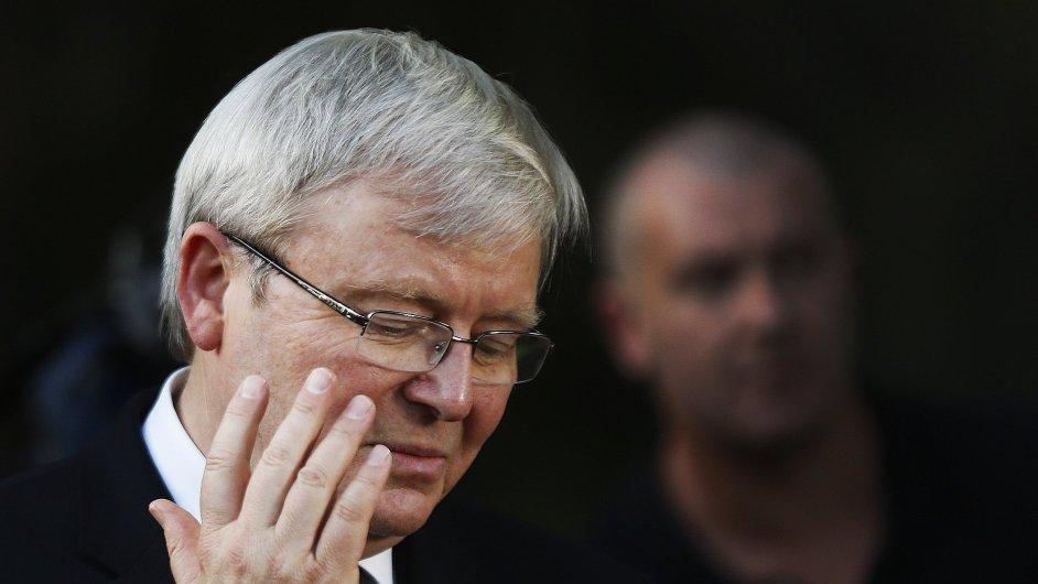 Stávající australský předseda vlády Kevin Rudd zřejmě po volbách o své křeslo přijde.