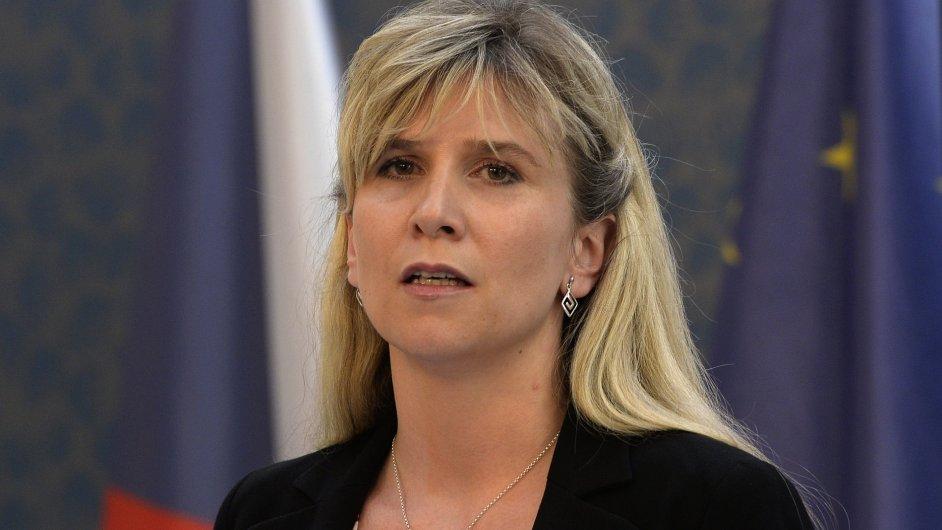 Kandidátka na ministryni školství Kateřina Valachová vystoupila 5. června v Praze na tiskové konferenci.