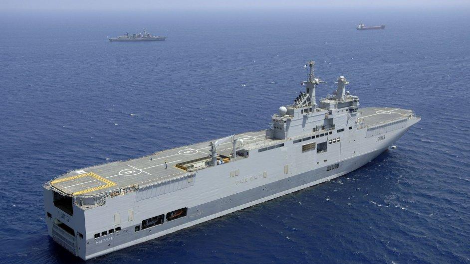 Vojenská loď Mistral - Ilustrační foto