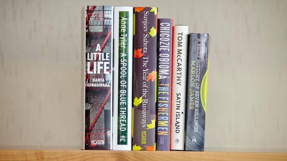Šest knih nominovaných na letošní Man Bookerovu cenu.