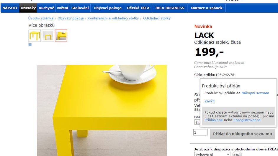 Ikea online nákup