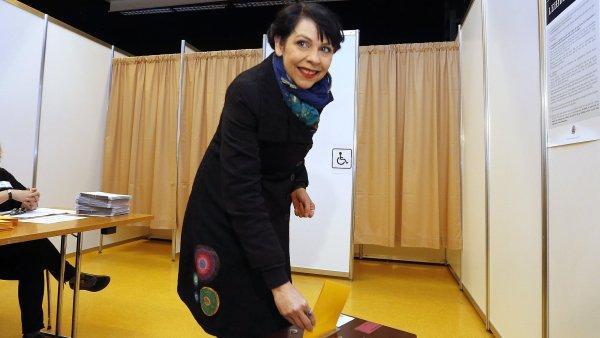 Zakladatelka Pirátské strany Birgitta Jónsdóttirová.
