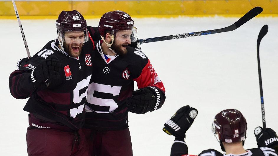 Odvetné utkání semifinále play off hokejové Ligymistrů Sparta Praha - Växjö 17. ledna v Praze.