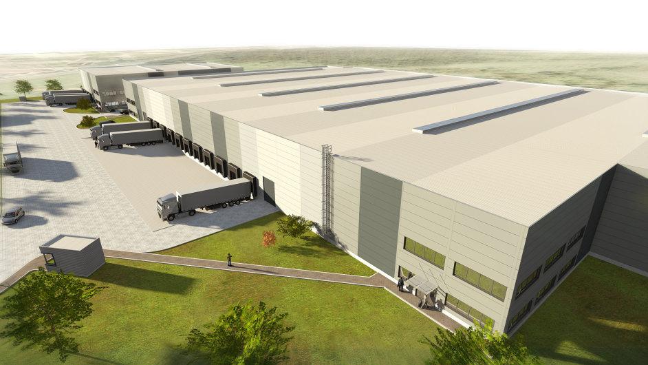 Vizualizace nového logistického centra Yusen Logistics (Czech) v severních Čechách