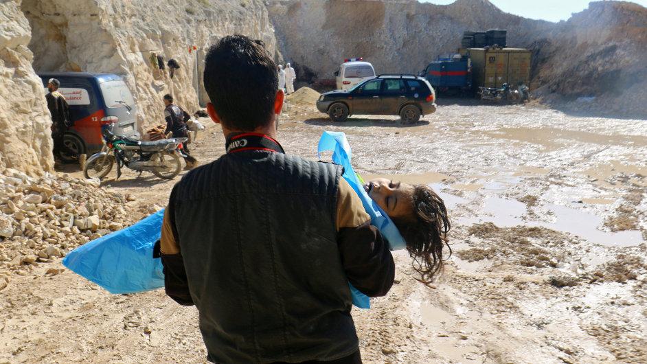 Při náletu v provincii Idlib byly použity chemické zbraně.
