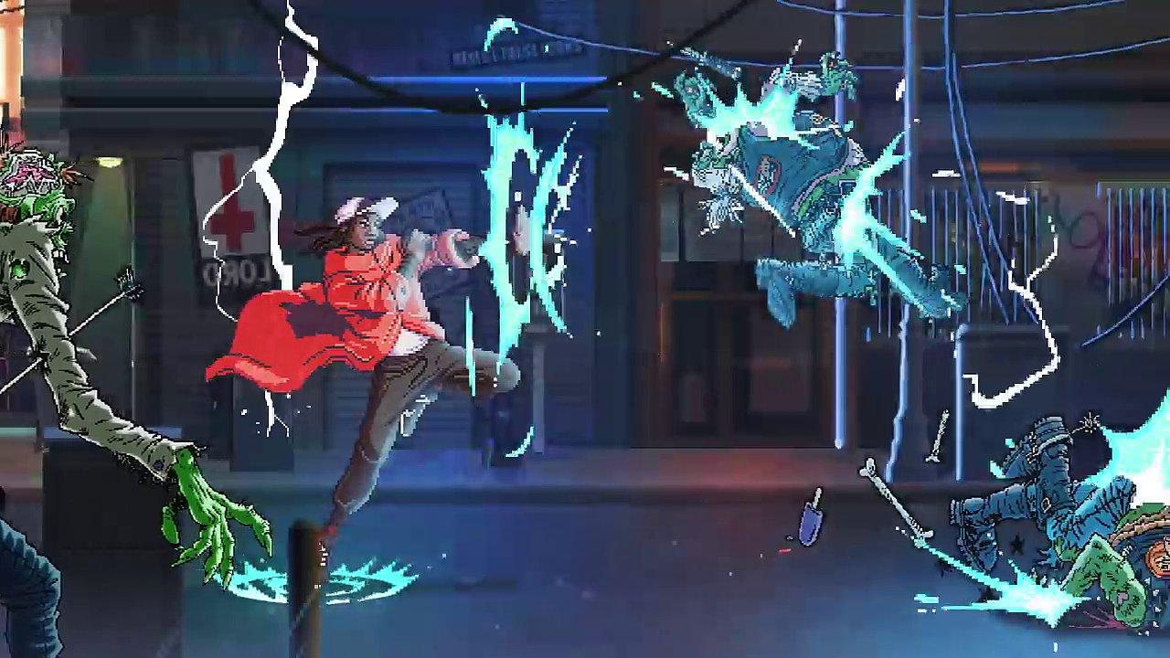 Snímek z videoklipu Gorillaz.