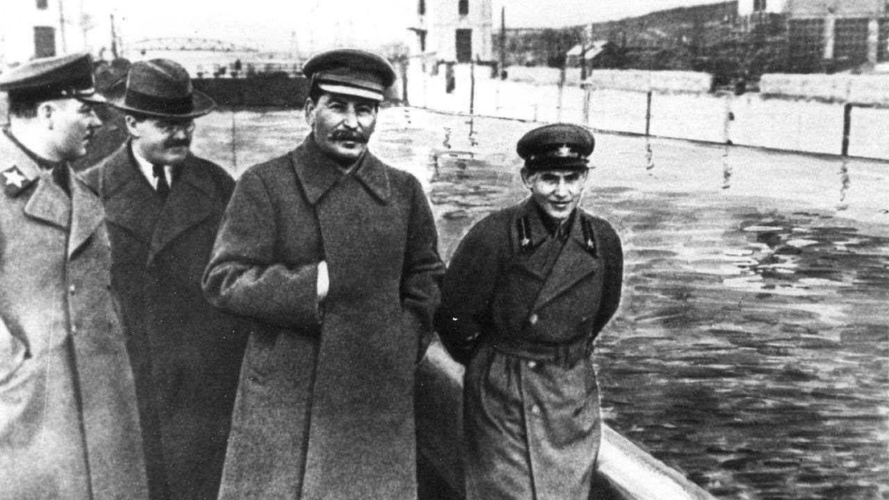 Vorošilov, Molotov, Stalin, Ježov