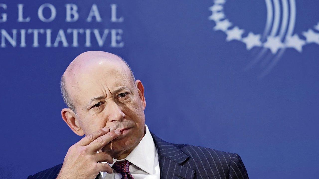 Současný šéf Goldman Sachs Lloyd Blankfein
