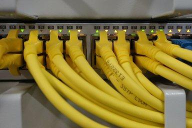 Síťový kabel, propojení, konektivita, ilustrační foto
