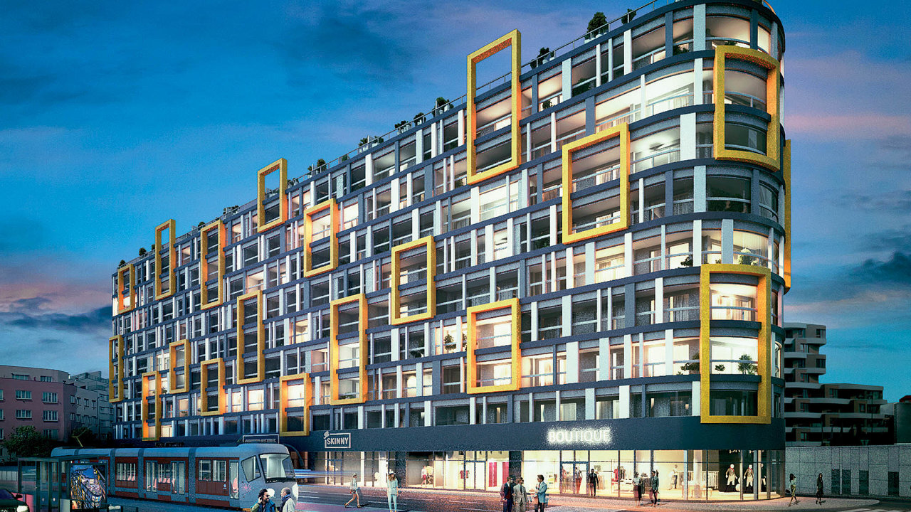 Nájemní hit. Bytový projekt developera Central Group vPraze9 je atraktivní svou skladbou malometrážních bytů.