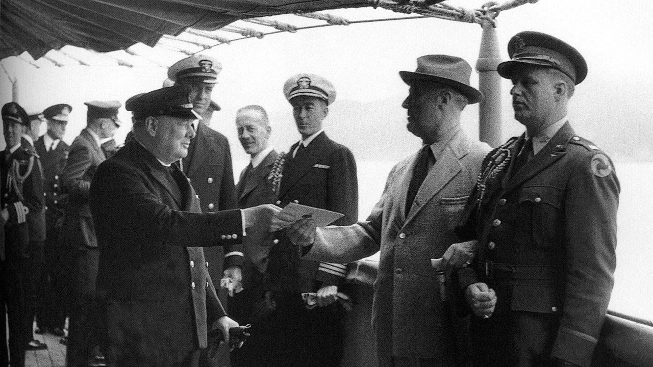 Churchill a Roosevelt