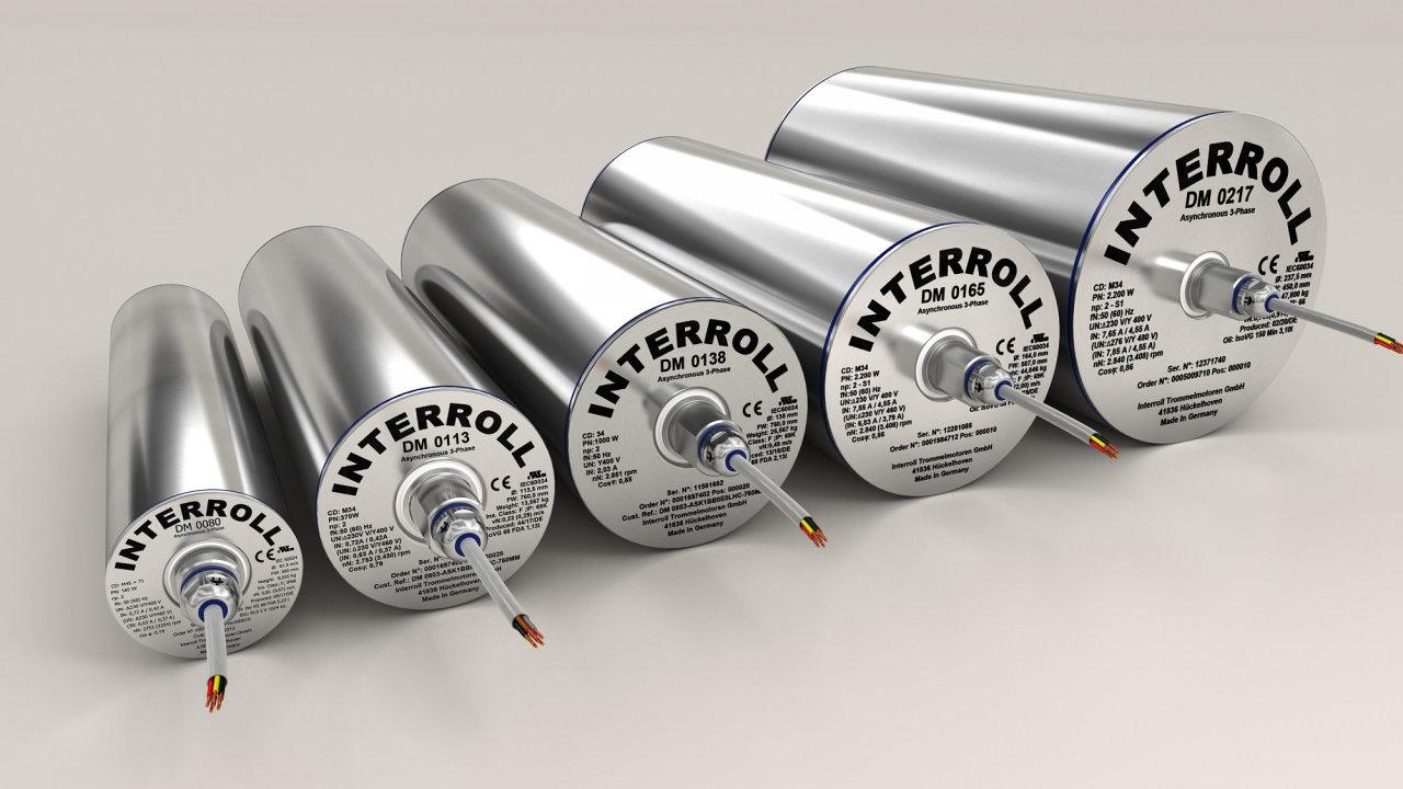 Bubnové motory Interroll spňuijí nejvyšší hygienické standardy.