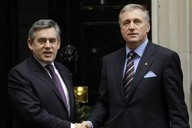 Gordon Brown a Mirek Topolánek