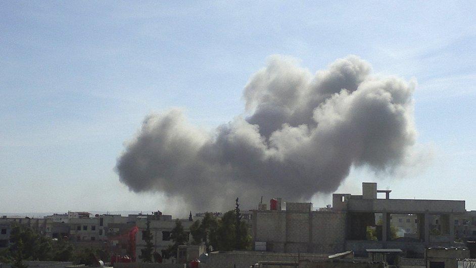 Syrské letectvo prý bombardovalo Damašek