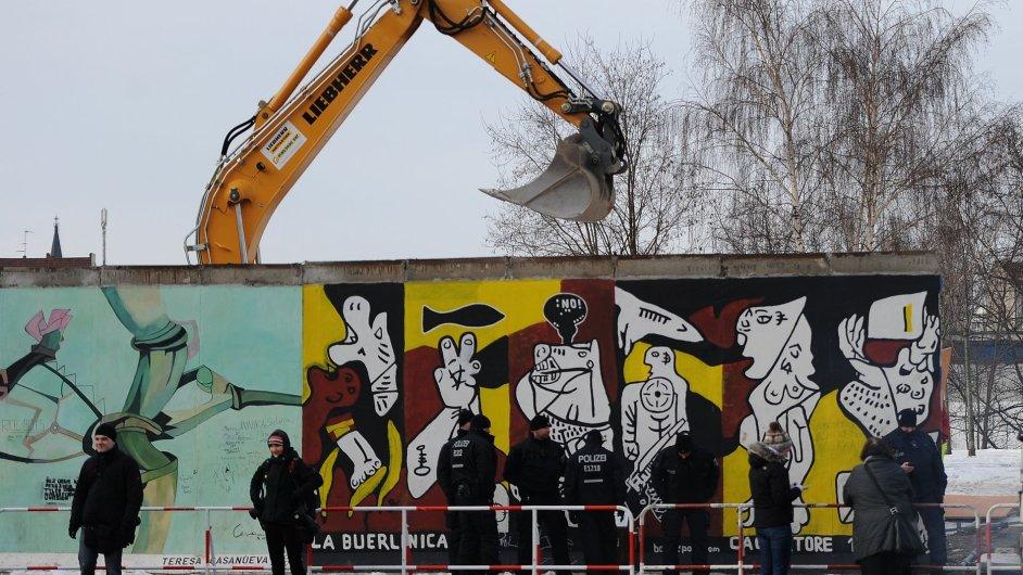 Město přišlo o část Berlínské zdi