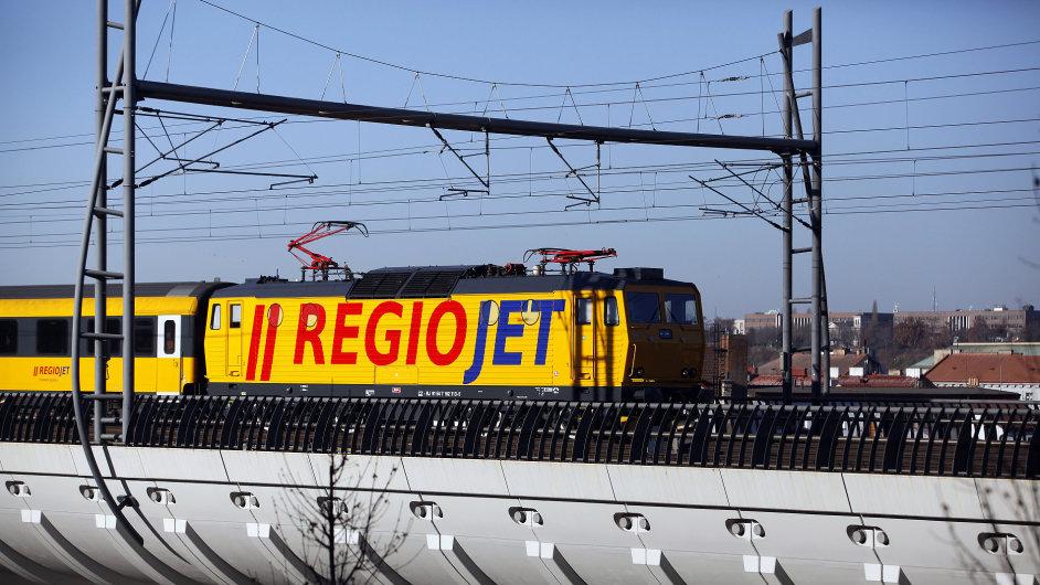 RegioJet na cestě do Ostravy