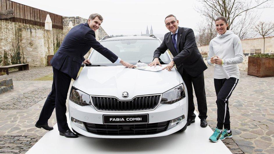 Podpis nové smlouvy mezi ČOV a společností Škoda Auto.