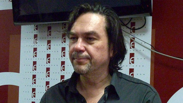 Spisovatel Jurij Andruchovyč na snímku z Lvova z roku 2010.