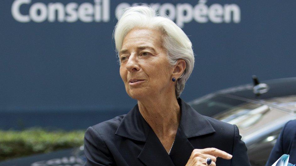 Šéfka Mezinárodního měnového fondu Christine Lagardeová na jednání v Bruselu