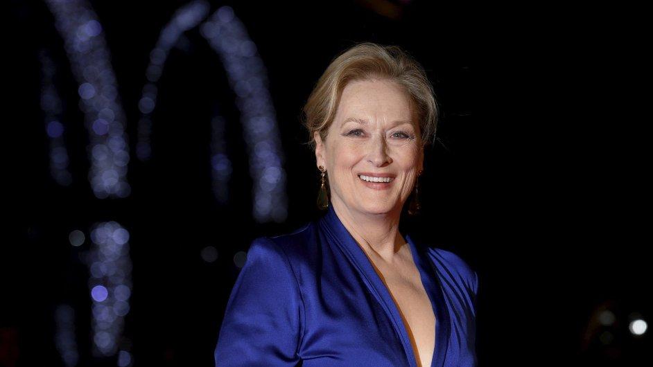 Herečka Meryl Streepová tento měsíc na premiéře filmu Suffragette v Londýně.